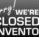 Mon & Tue, Jan 2 & 3, 2017 - CLOSED FOR INVENTORY