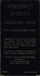 Visconti-Sforza Tarot back